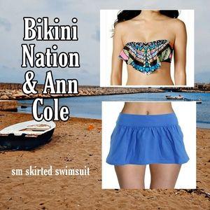 👙🌞BIKINI NATION & ANN COLE 2 pc skirted swim